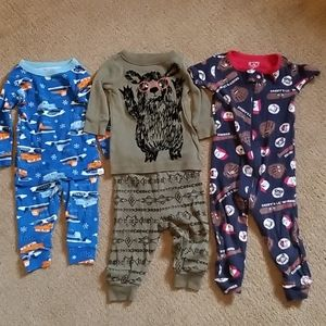GUC  BABY  BOY  3 LOT PAJAMAS  SIZE 6-12 M